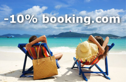 Booking.com 10% nuolaida užsakymams